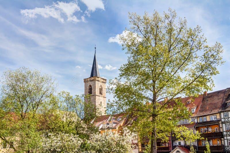 Μνημείο του Martin Luther στην Ερφούρτη στοκ εικόνες