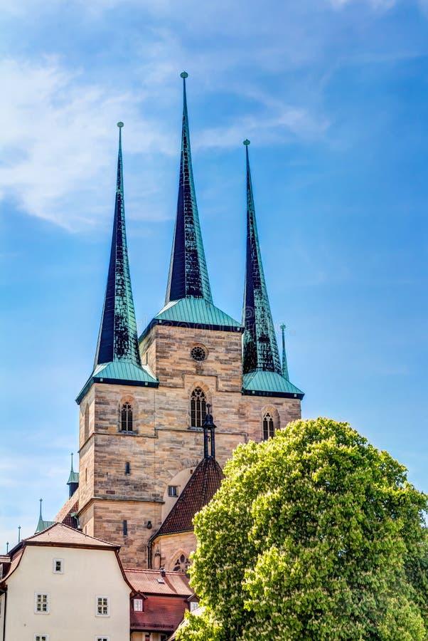 Μνημείο του Martin Luther στην Ερφούρτη στοκ εικόνα