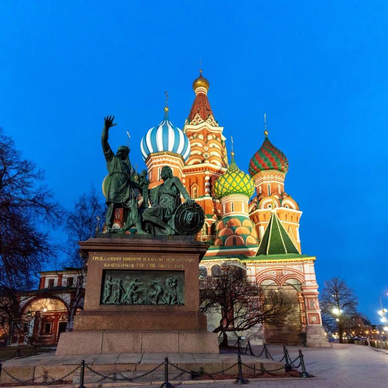 Μνημείο του Minino και του Pozharskiy στοκ φωτογραφία με δικαίωμα ελεύθερης χρήσης