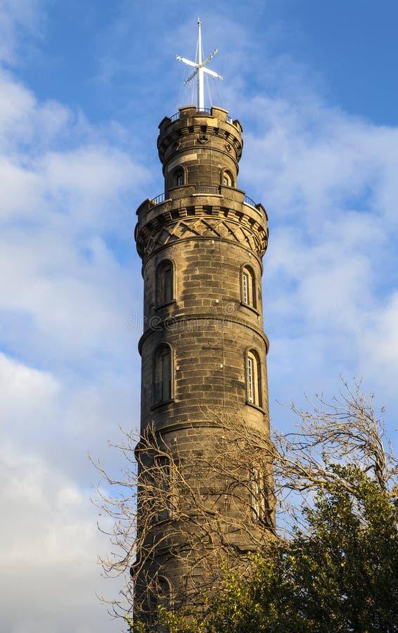 Μνημείο του Nelson στο Εδιμβούργο στοκ φωτογραφία