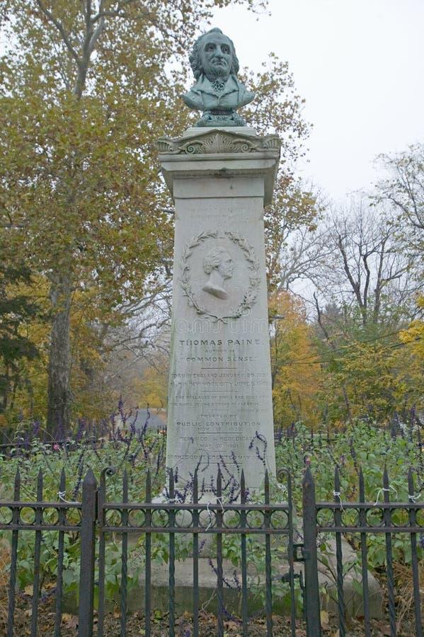 Μνημείο του Thomas Paine στη νέα Rochelle, Νέα Υόρκη στοκ εικόνες
