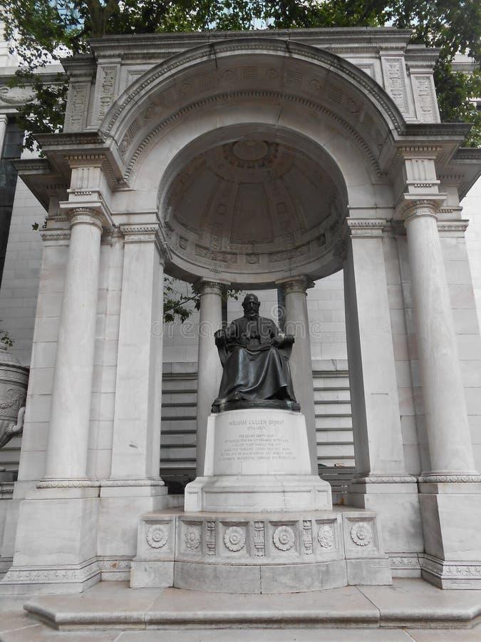 Μνημείο του William Cullen Bryant στη Νέα Υόρκη στοκ φωτογραφίες με δικαίωμα ελεύθερης χρήσης