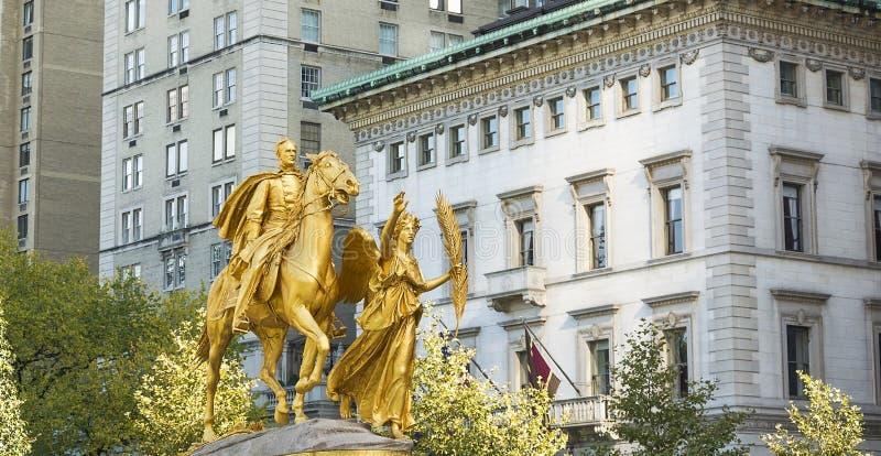Μνημείο του William Sherman στην πόλη της Νέας Υόρκης στοκ εικόνες