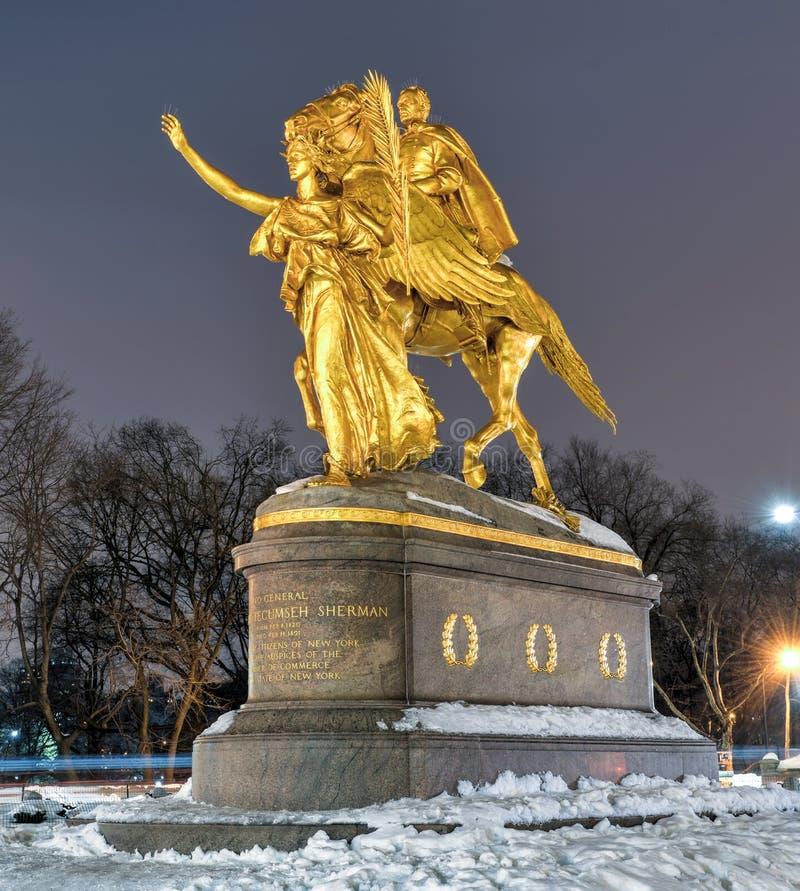 Μνημείο του William Tecumseh Sherman, Νέα Υόρκη στοκ φωτογραφία με δικαίωμα ελεύθερης χρήσης