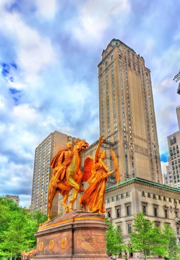 Μνημείο του William Tecumseh Sherman στο μεγάλο στρατό Plaza στο Μανχάταν, πόλη της Νέας Υόρκης στοκ εικόνα με δικαίωμα ελεύθερης χρήσης