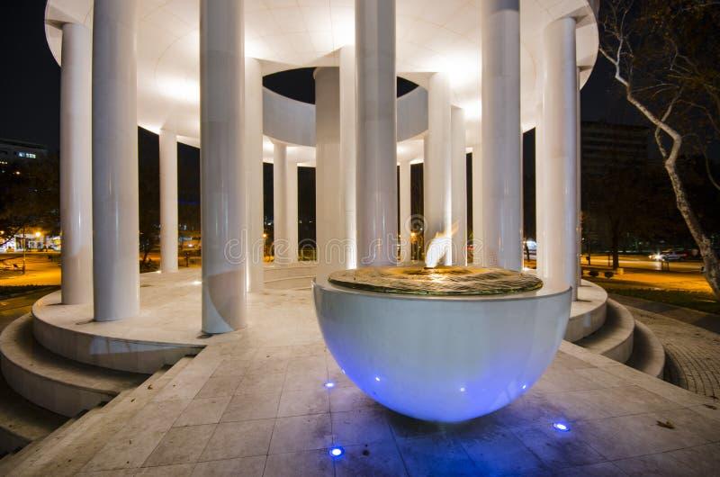 Μνημείο των ηρώων στα Σκόπια, Μακεδονία στοκ εικόνες