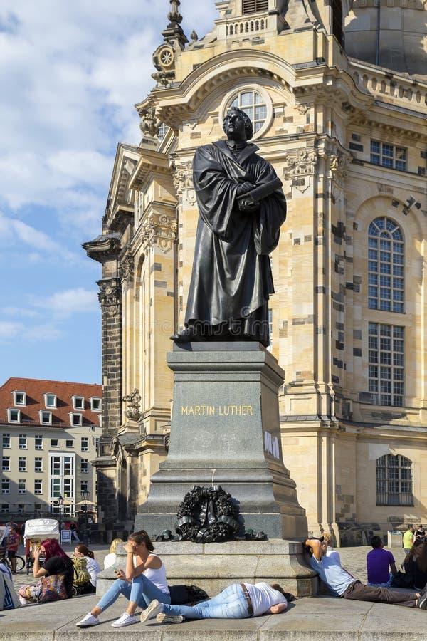 Μνημείο χαλκού του Martin Luther στοκ εικόνες με δικαίωμα ελεύθερης χρήσης