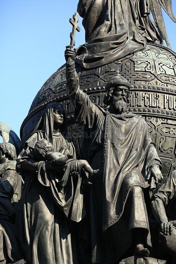 Μνημείο χαλκού στη χιλιετία της Ρωσίας, τεμάχιο του δεύτερου γλυπτικού καταλόγου στοκ εικόνες με δικαίωμα ελεύθερης χρήσης