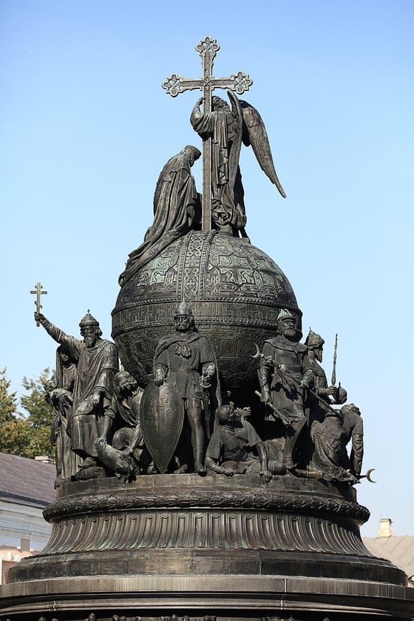 Μνημείο χαλκού στη χιλιετία της Ρωσίας, τεμάχιο του δεύτερου γλυπτικού καταλόγου στοκ φωτογραφία
