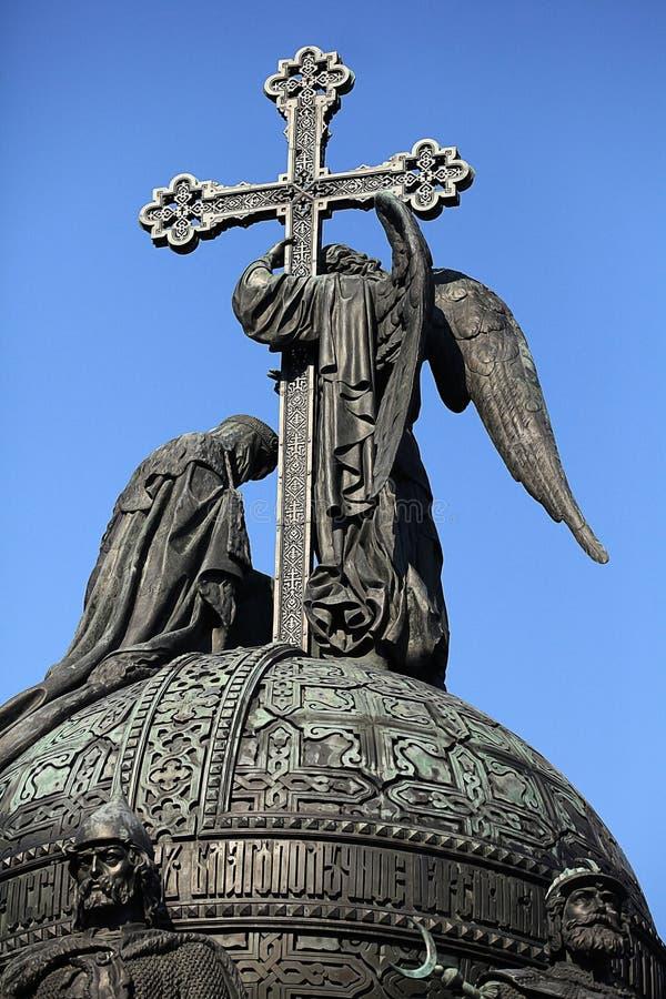 Μνημείο χαλκού στη χιλιετία της Ρωσίας στοκ φωτογραφίες με δικαίωμα ελεύθερης χρήσης
