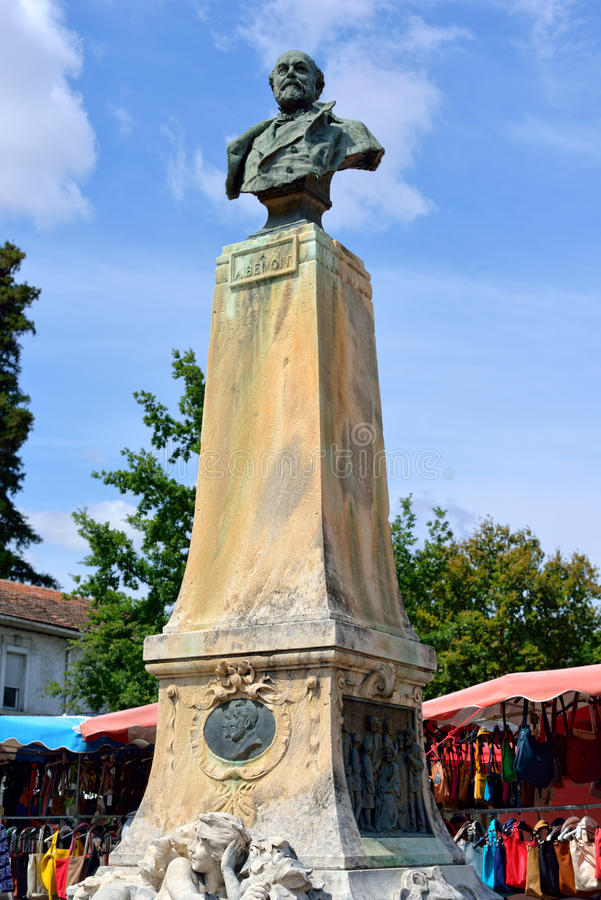 Μνημείο Alphonse Benoit στοκ εικόνα με δικαίωμα ελεύθερης χρήσης