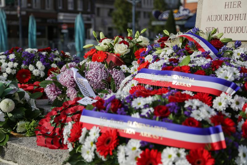 Μνημείο Arras παγκόσμιου πολέμου στοκ εικόνες