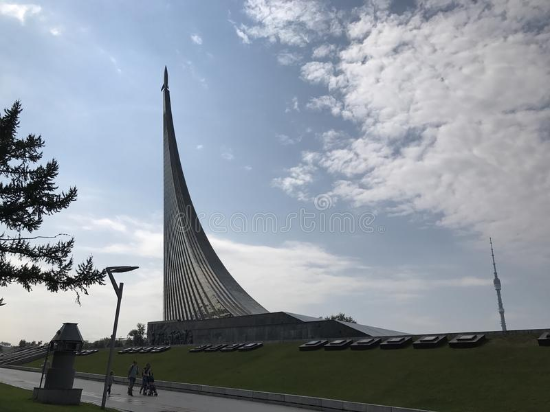 Μνημείο Gagarin πυραύλων της Στέλλα στοκ εικόνες