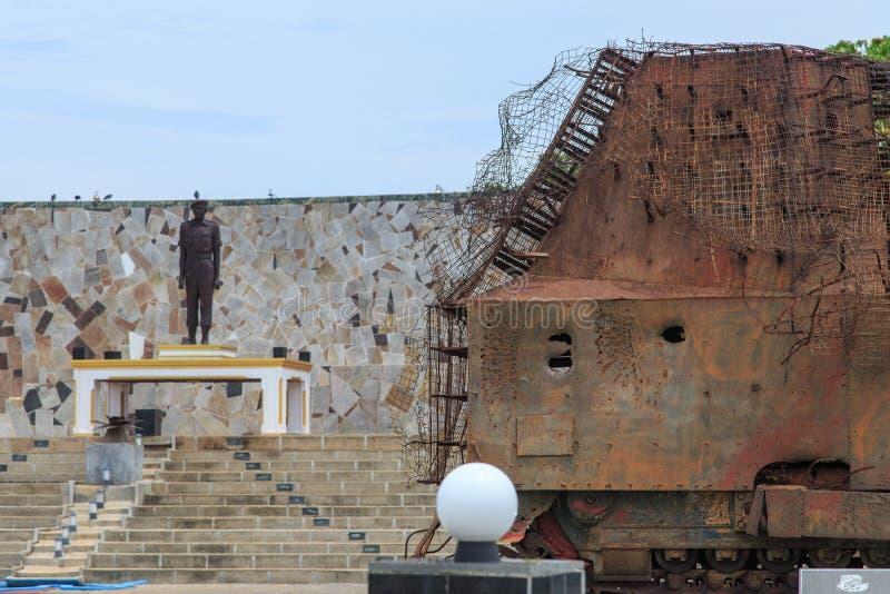 Μνημείο Gamini Hasalaka - πέρασμα ελεφάντων, Jaffna - Σρι Λάνκα στοκ φωτογραφία με δικαίωμα ελεύθερης χρήσης