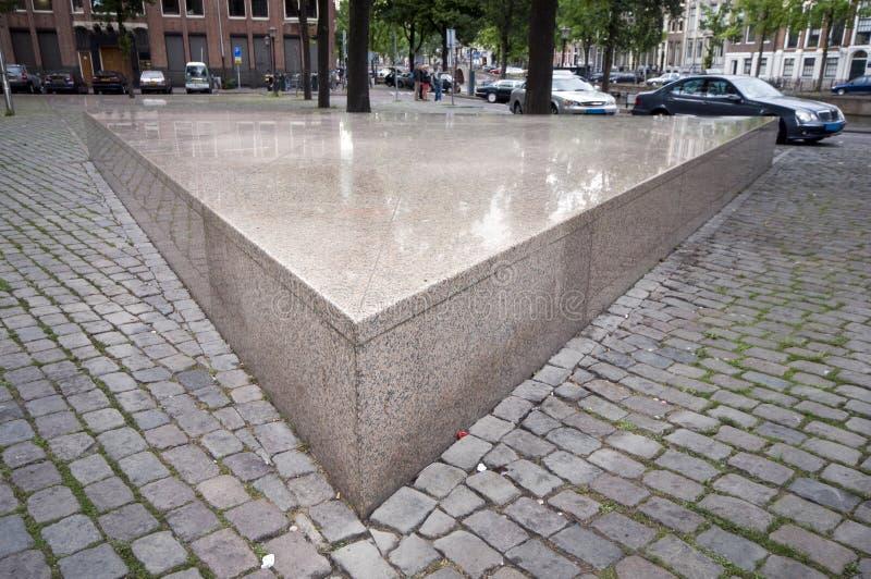 μνημείο homo του Άμστερνταμ στοκ φωτογραφία με δικαίωμα ελεύθερης χρήσης