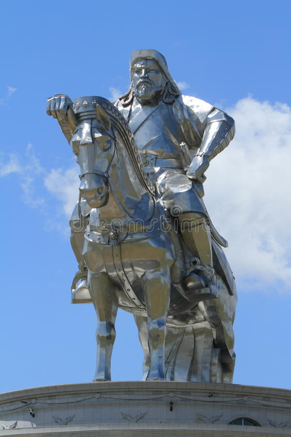 Μνημείο Khan Genghis στοκ φωτογραφία