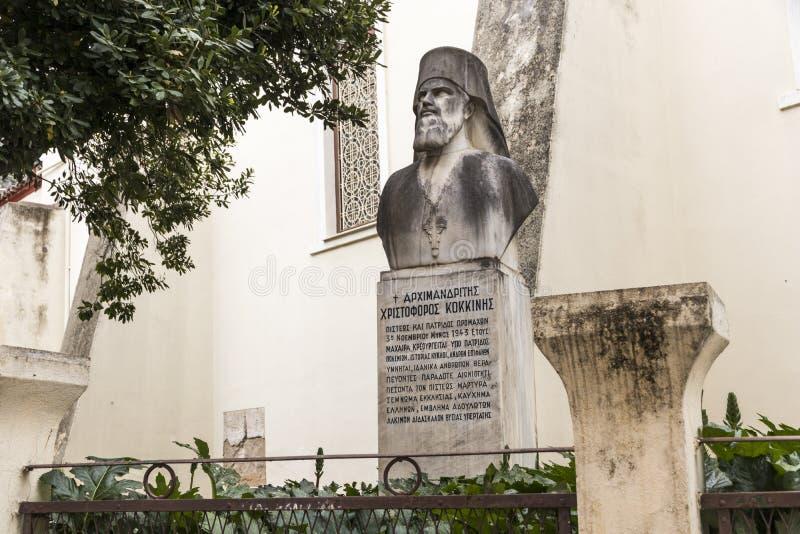 Μνημείο Kokkinis Kristoforos στοκ φωτογραφίες