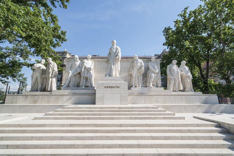 Μνημείο Kossuth στη Βουδαπέστη στοκ φωτογραφία με δικαίωμα ελεύθερης χρήσης