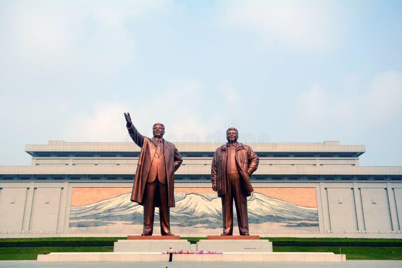 Μνημείο Mansudae, Pyongyang, Βόρεια Κορέα στοκ εικόνες με δικαίωμα ελεύθερης χρήσης