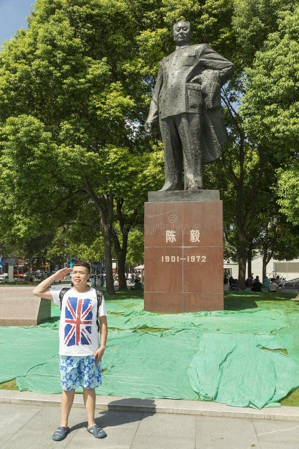 Μνημείο marshal Chen Yi στη Σαγκάη, Κίνα στοκ φωτογραφίες