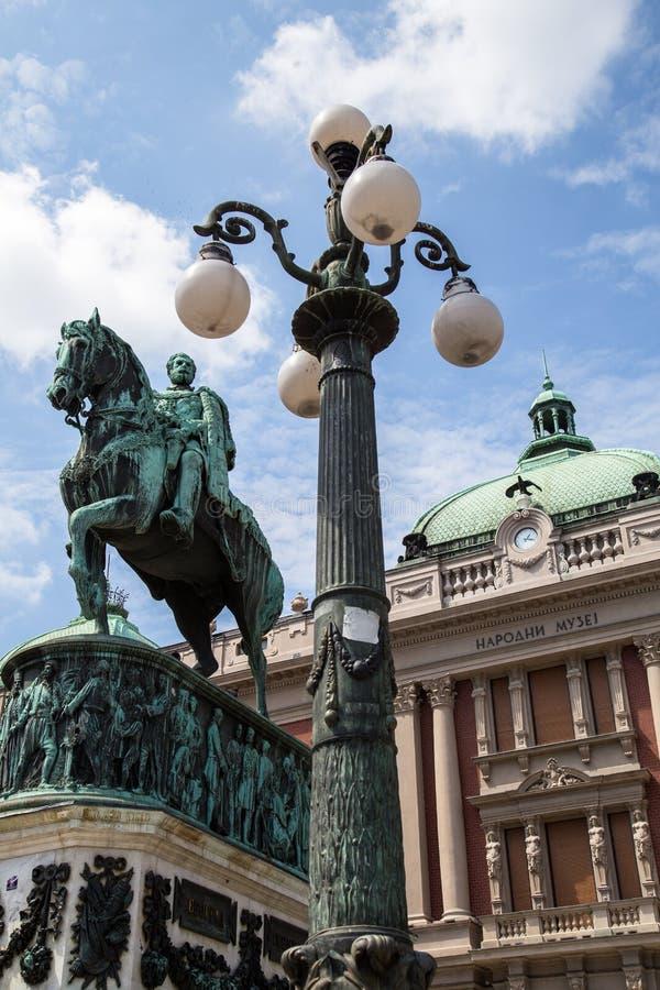 Μνημείο Mihailo πριγκήπων στο τετράγωνο Δημοκρατίας στοκ φωτογραφία με δικαίωμα ελεύθερης χρήσης