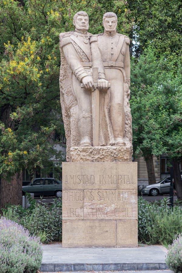 Μνημείο Plaza Χιλή Mendoza Αργεντινή στοκ φωτογραφίες
