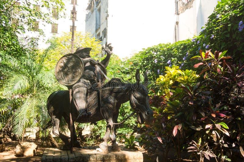 Μνημείο Sancho Panza, ο χαρακτήρας Θερβάντες στο βιβλίο στοκ φωτογραφίες