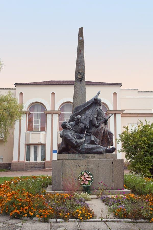 Μνημείο Shors Nikolay σε Korosten, Ουκρανία στοκ φωτογραφίες με δικαίωμα ελεύθερης χρήσης