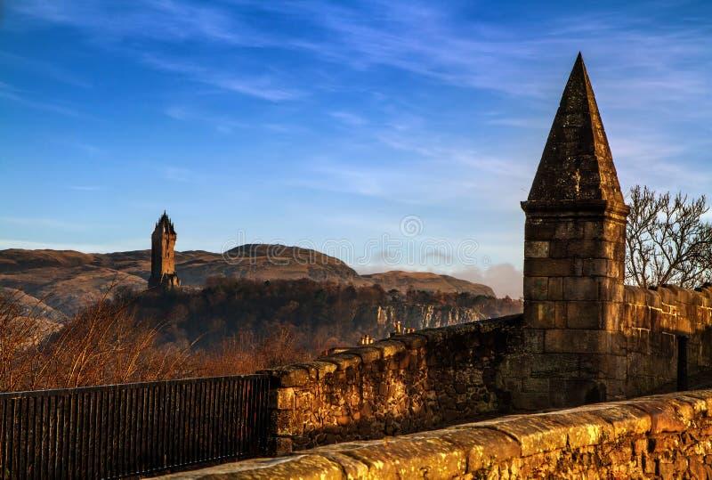 Μνημείο Wallace από τη γέφυρα Stirling στοκ φωτογραφία με δικαίωμα ελεύθερης χρήσης