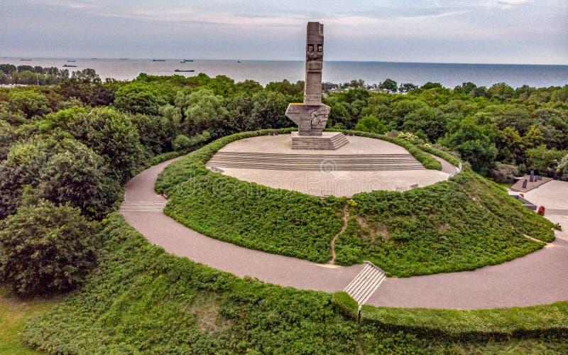 Μνημείο Westerplatte άνωθεν στοκ φωτογραφίες
