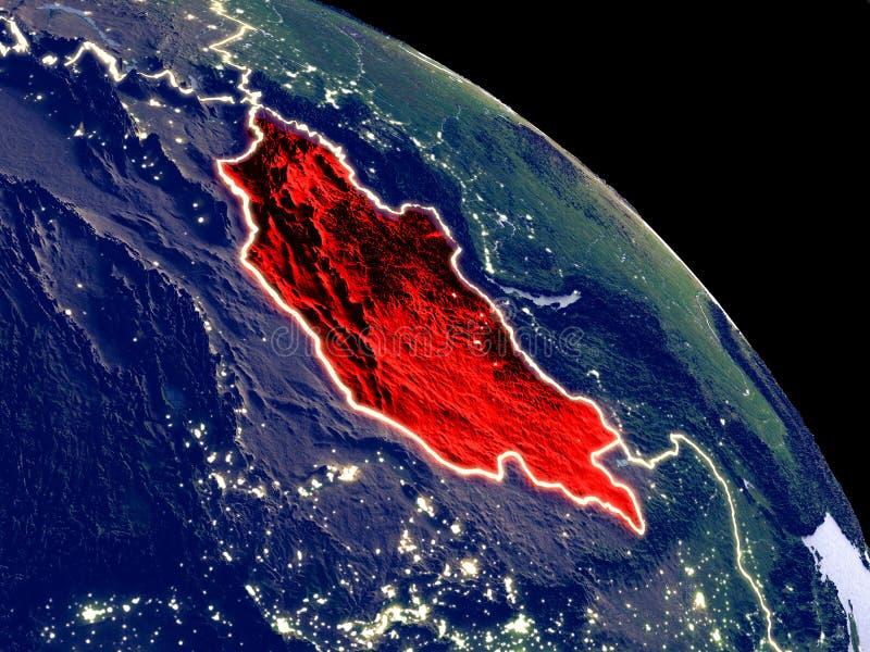 Μογγολία από το διάστημα διανυσματική απεικόνιση