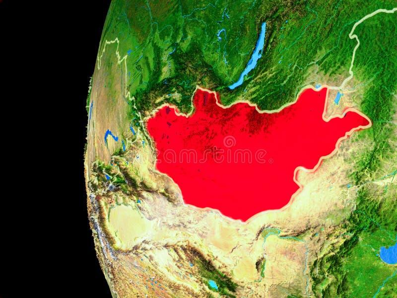 Μογγολία από το διάστημα ελεύθερη απεικόνιση δικαιώματος
