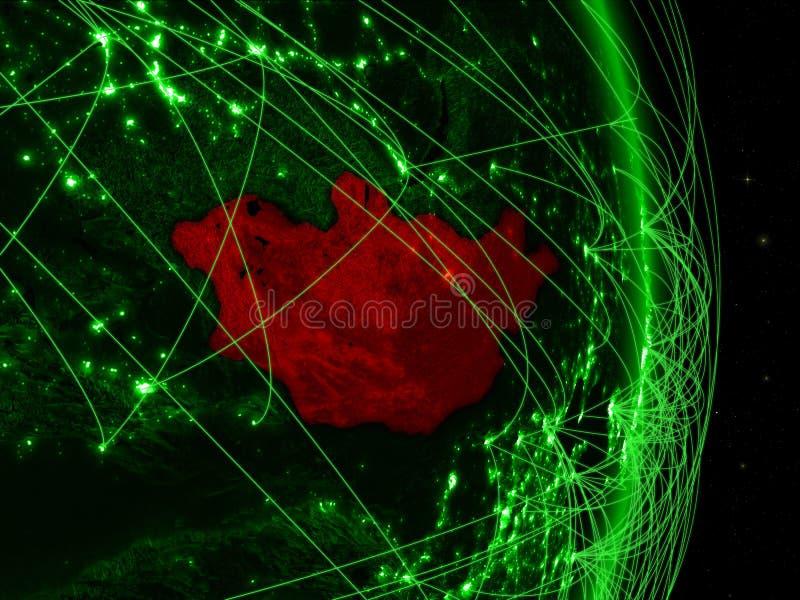 Μογγολία στην πράσινη γη ελεύθερη απεικόνιση δικαιώματος