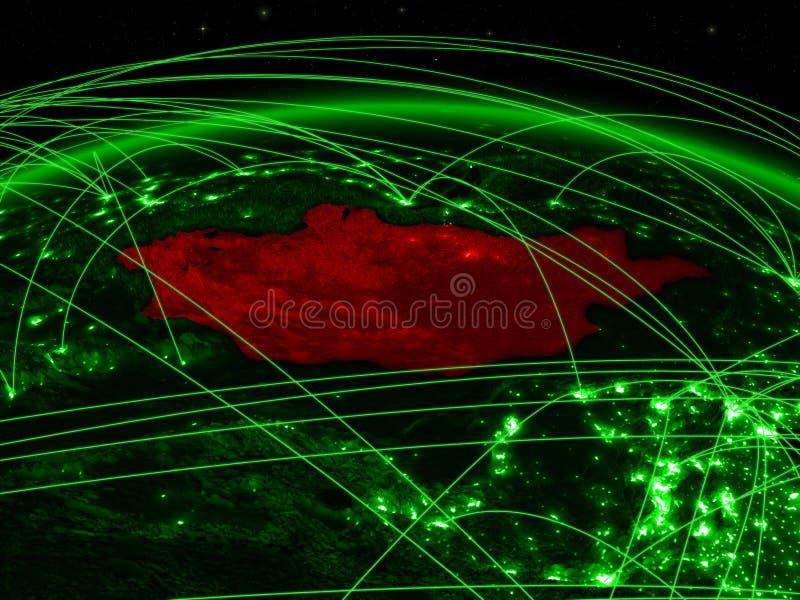 Μογγολία στην πράσινη σφαίρα διανυσματική απεικόνιση