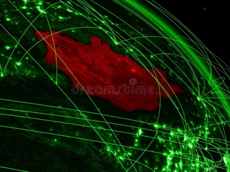 Μογγολία στην πράσινη σφαίρα απεικόνιση αποθεμάτων