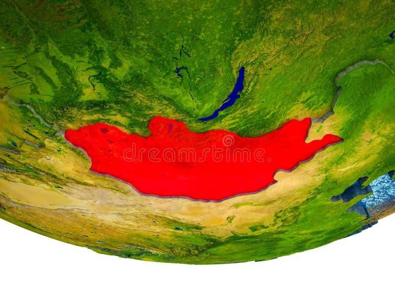 Μογγολία στην τρισδιάστατη γη ελεύθερη απεικόνιση δικαιώματος
