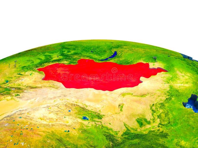 Μογγολία στην τρισδιάστατη γη διανυσματική απεικόνιση
