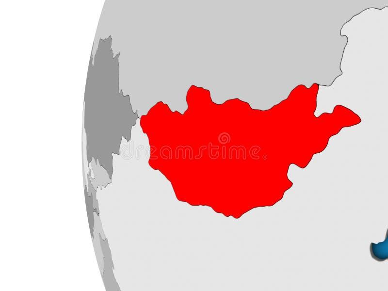Μογγολία στην τρισδιάστατη σφαίρα απεικόνιση αποθεμάτων
