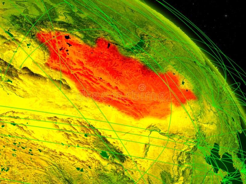 Μογγολία στην ψηφιακή σφαίρα διανυσματική απεικόνιση