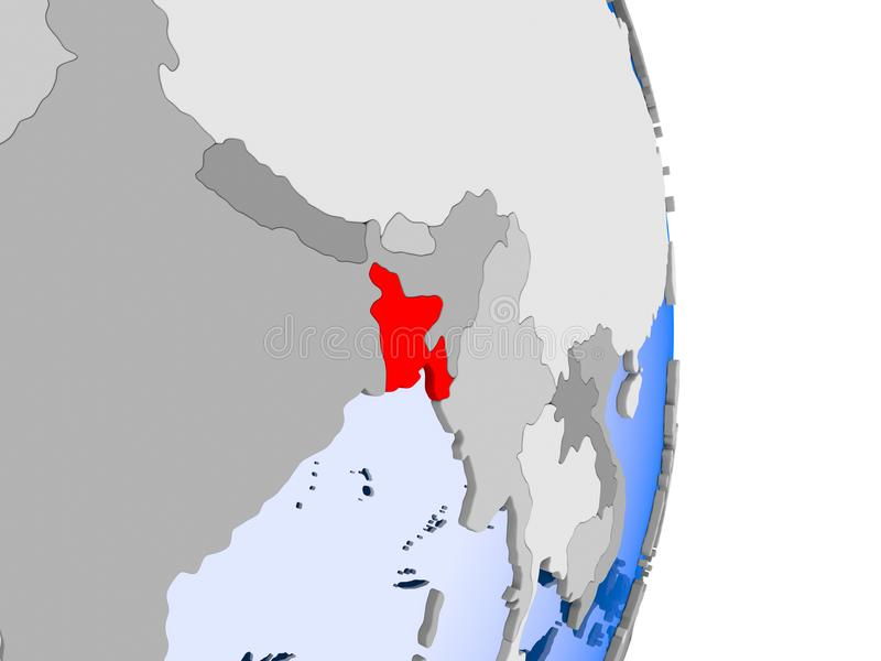 Μογγολία στη σφαίρα διανυσματική απεικόνιση