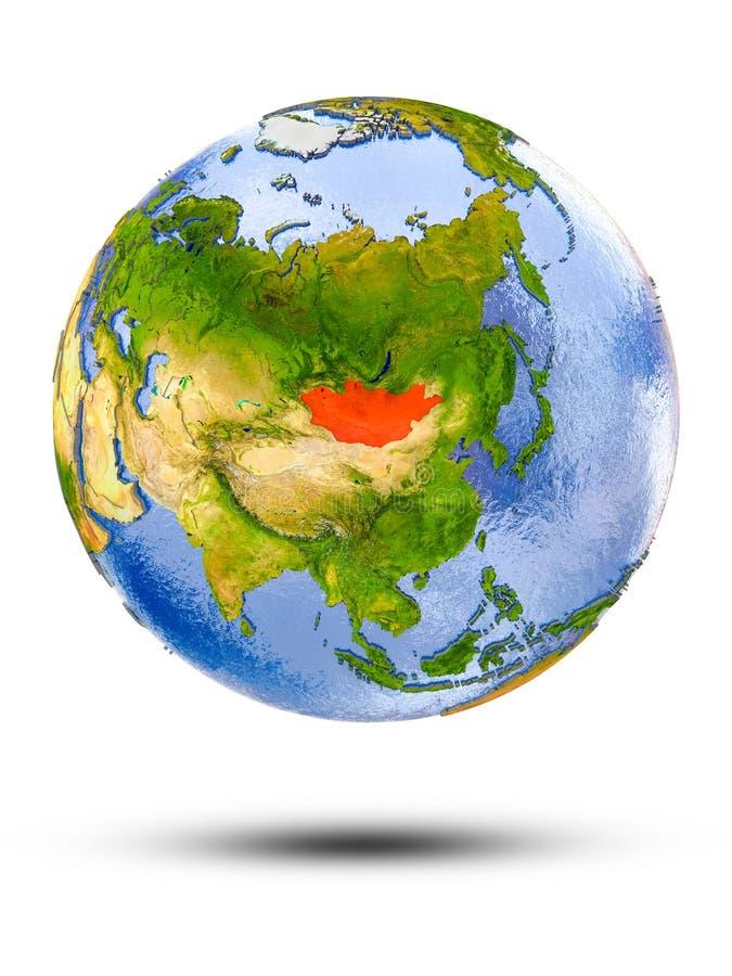 Μογγολία στη σφαίρα ελεύθερη απεικόνιση δικαιώματος