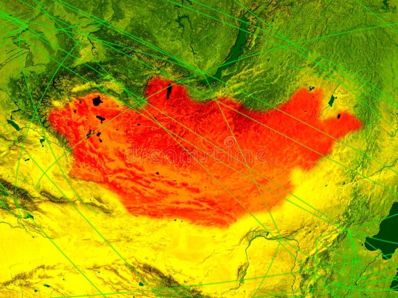 Μογγολία στον ψηφιακό χάρτη ελεύθερη απεικόνιση δικαιώματος