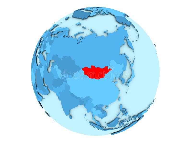 Μογγολία σφαίρα που απομονώνεται στην μπλε διανυσματική απεικόνιση