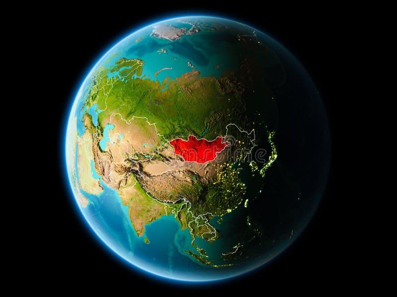 Μογγολία το βράδυ απεικόνιση αποθεμάτων