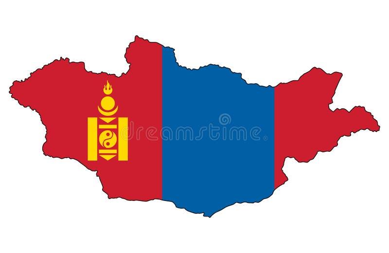 Μογγολία Χάρτης της διανυσματικής απεικόνισης της Μογγολίας διανυσματική απεικόνιση