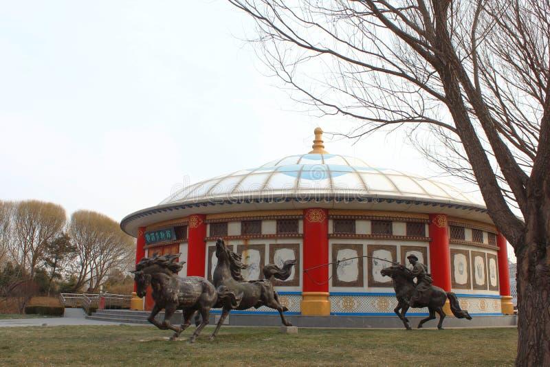 Μογγολικά yurts στοκ εικόνα