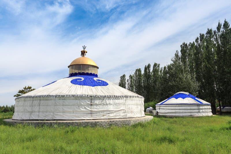 Μογγολικά yurts στοκ φωτογραφίες με δικαίωμα ελεύθερης χρήσης