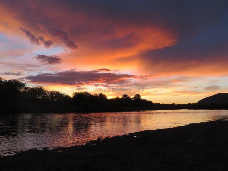 Μογγολικό ηλιοβασίλεμα στοκ φωτογραφίες με δικαίωμα ελεύθερης χρήσης