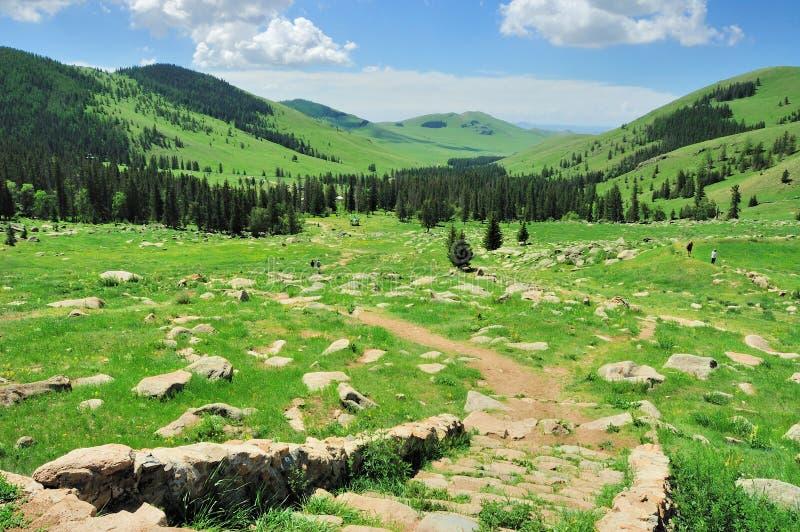 Μογγολικό τοπίο στοκ εικόνα με δικαίωμα ελεύθερης χρήσης