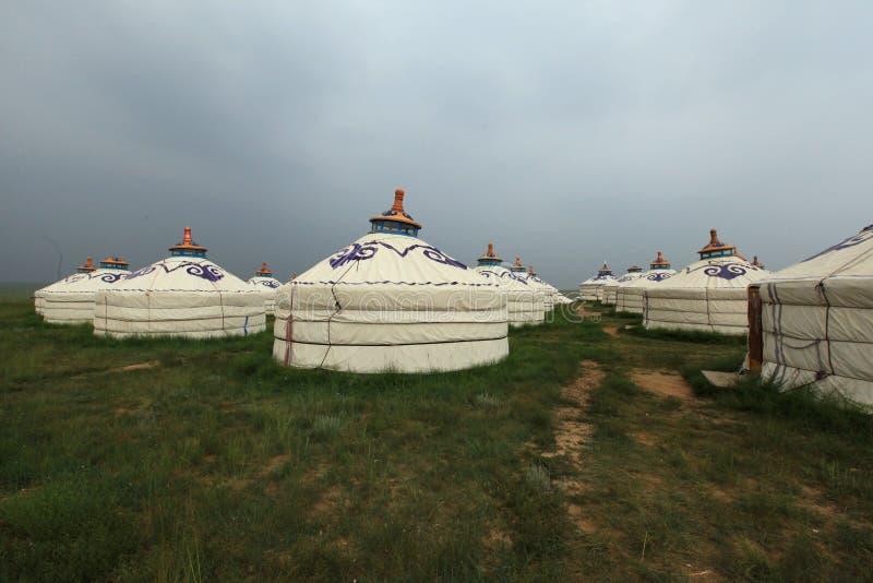 Μογγολικά yurts στοκ φωτογραφίες